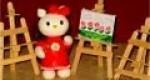 Hello Kitty hecha en porcelana fria para pintar
