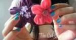Bonitas flores de tela para el pelo