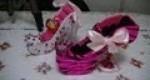 Porta anillos modelo zapato hecho a mano