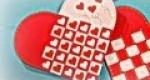 Tarjeta de corazón trenzado para San Valentín